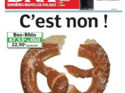 Les Alsaciens rejettent le projet de fusion