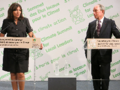 Cop 21: Anne Hidalgo et Michael Bloomberg en première ligne du Sommet mondial des élus locaux pour le climat