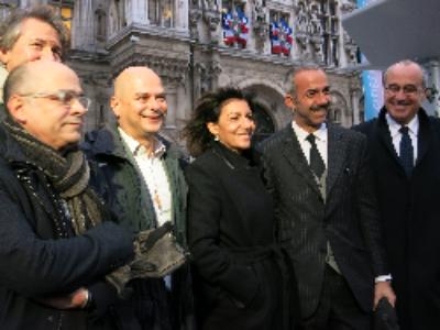 A l'occasion de la COP21, la maire de Paris inaugure Trilib', futur point d'apport volontaire urbain