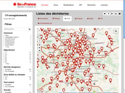L'Ordif passe ses cartes sur les déchèteries franciliennes en open data