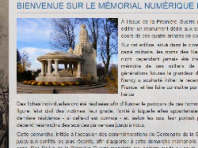 Morts pour la France: Nancy crée un mémorial numérique