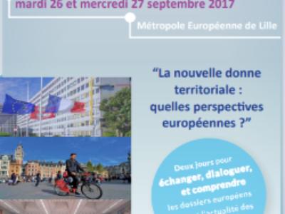 26 et 27 septembre – 3e Université européenne de l'AFCCRE