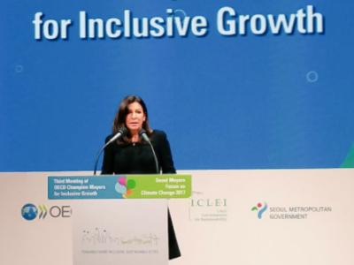 """Anne Hidalgo va présider l'initiative des """"Maires champions pour une croissance inclusive"""""""