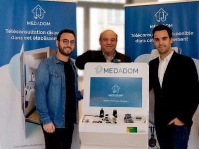 Télémédecine: La solution Medadom des bornes dans les mairies